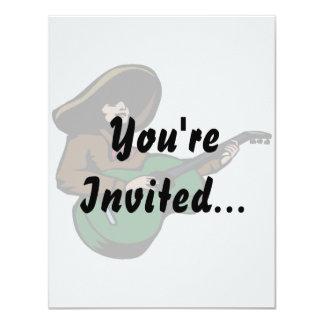 marrom mexicano green.png do guitarrista convite 10.79 x 13.97cm