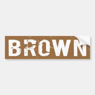 MARROM - senador Scott Brown das MÃES - 2012 Adesivos