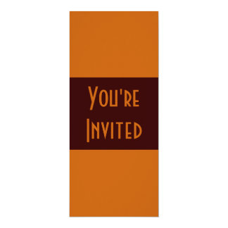 marrom simples convite 10.16 x 23.49cm