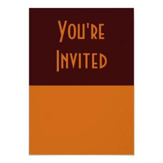 marrom simples convite 12.7 x 17.78cm