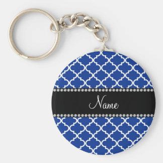Marroquino azul conhecido personalizado chaveiros