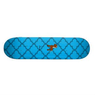 Marroquino conhecido personalizado do azul do cava shape de skate 19,7cm