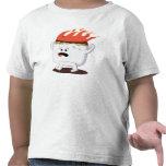 Marshmallow flamejante camisetas
