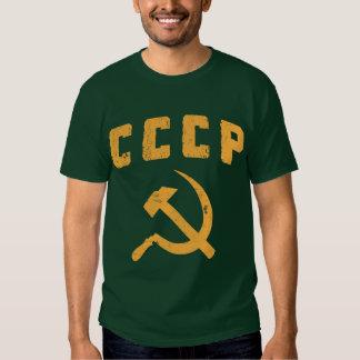 martelo e foice de URSS do russo do vintage do Camisetas