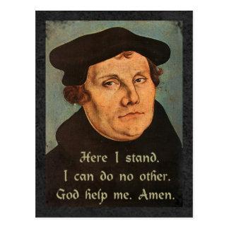Martin Luther aqui eu estou a cotação Cartão Postal