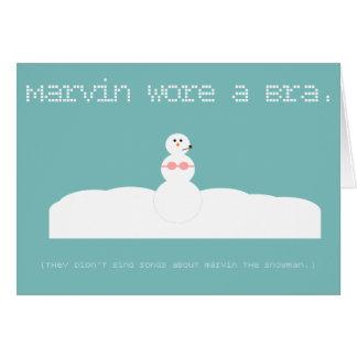 Marvin o cartão do feriado dos haicais do boneco