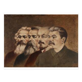 Marx, Engels, Lenin, e Stalin Cartão Postal