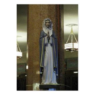 Mary cartão da meditação modelo cartao de visita