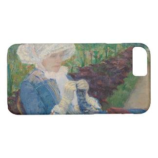Mary Cassat- Lydia que Crocheting no jardim Capa iPhone 7