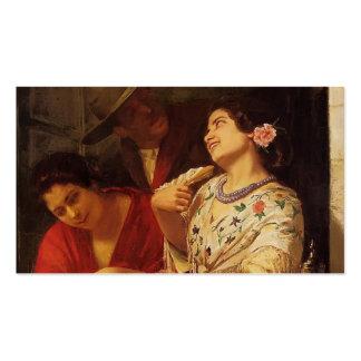 Mary Cassatt- o namorico um balcão em Sevilha Cartões De Visita