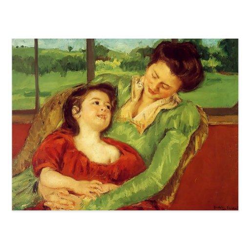 Mary Cassatt- Reine Lefebre & Margot antes da jane Cartão Postal