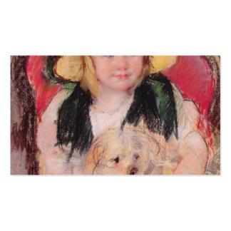 Mary Cassatt- Sara com seu cão Modelos Cartoes De Visitas