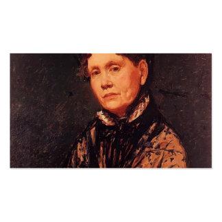 Mary Cassatt Sra Robert Simpson Cassatt Cartões De Visita