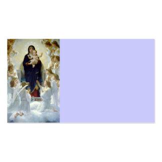 Mary com anjos - Regina Angelorum Cartão De Visita