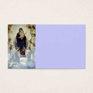Mary com anjos - Regina Angelorum Cartão De Visitas