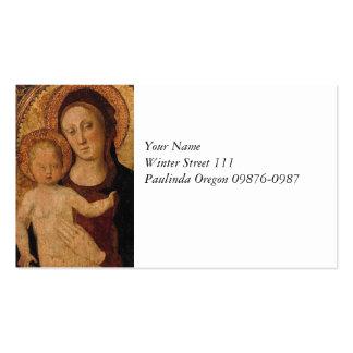 Mary com bebê Jesus sob o arco Cartão De Visita