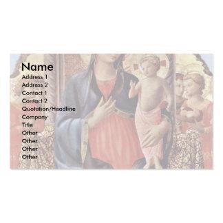 Mary com criança e anjos cartão de visita