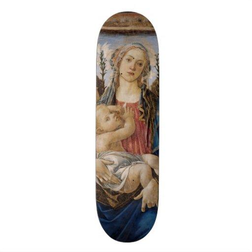 Mary com criança e anjos do canto por Botticelli Skate