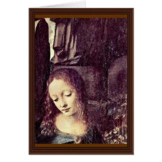 Mary com criança St John do cristo o baptista como Cartão
