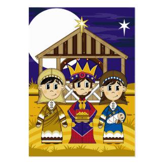 Mary com Joseph e rei Marcador Cartão De Visita Grande