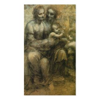 Mary, cristo, St Anne, e St John por Davinci Cartão De Visita