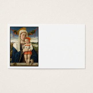 Mary e criança do cristo sob a festão cartão de visitas