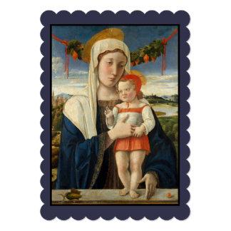 Mary e criança sob a festão convite 12.7 x 17.78cm