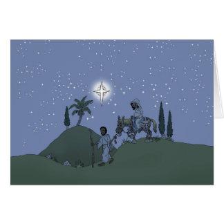 Mary e Joseph, cartão de Natal