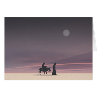 Mary e Joseph no luar Cartão