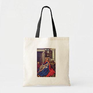 Mary e o Jesus infantil pela lareira Bolsas Para Compras