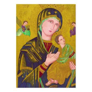MARY-JESUS-ANGELS, UM TAG DO PRESENTE CARTÃO DE VISITA GRANDE