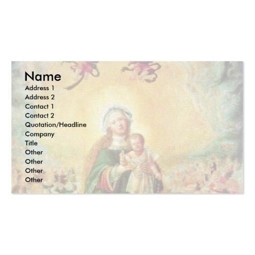 Mary na glória por Altdorfer, Albrecht Modelos Cartões De Visitas