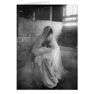 Mary que guardara Jesus no cartão de nota estável