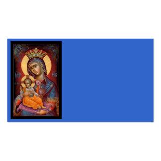 Mary - Theotokos Modelos Cartoes De Visitas