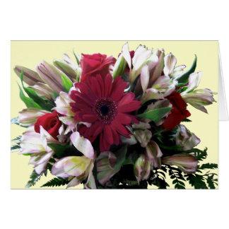 mas flores cartão comemorativo
