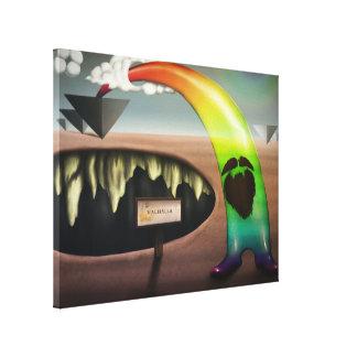 Mas o arco-íris tem uma barba - impressão das canv impressão de canvas esticadas