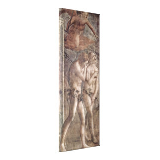 Masaccio - expulsão do paraíso impressão de canvas envolvida