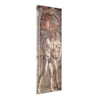 Masaccio - expulsão do paraíso impressão de canvas envolvidas