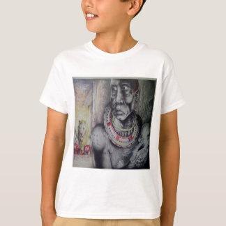 Masai africano Hakuna Matata com desenhista T dos Camiseta