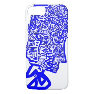 Máscara animal azul capa iPhone 7