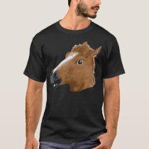 Máscara assustador da cabeça de cavalo camiseta