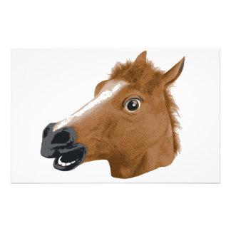 Máscara assustador da cabeça de cavalo papelaria