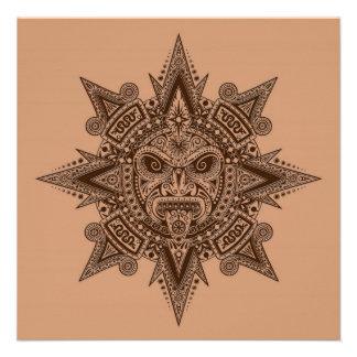 Máscara asteca Brown de Sun Convite Personalizado