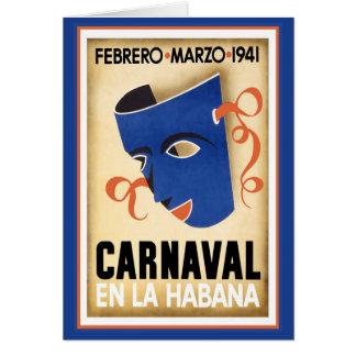 Máscara azul para Carnaval Cartao