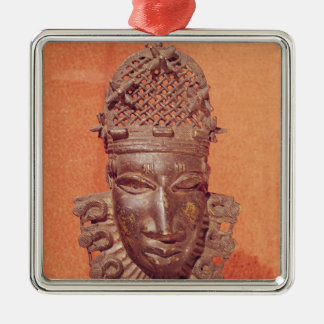 Máscara, Benin Ornamento Quadrado Cor Prata