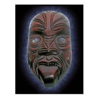 Máscara cinzelada maori - cartão