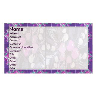 Máscara clara roxa artística da beira n floral cartão de visita