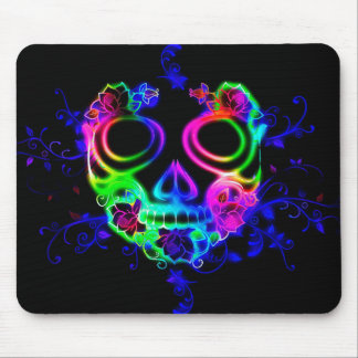 Máscara colorida Mousepad do Dia das Bruxas do
