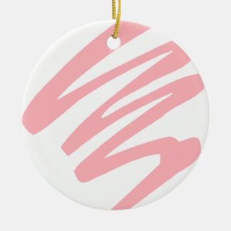 Máscara cor-de-rosa ornamento de cerâmica redondo