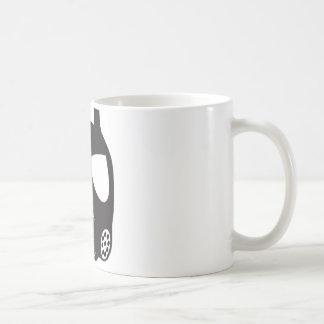 Máscara de gás caneca de café